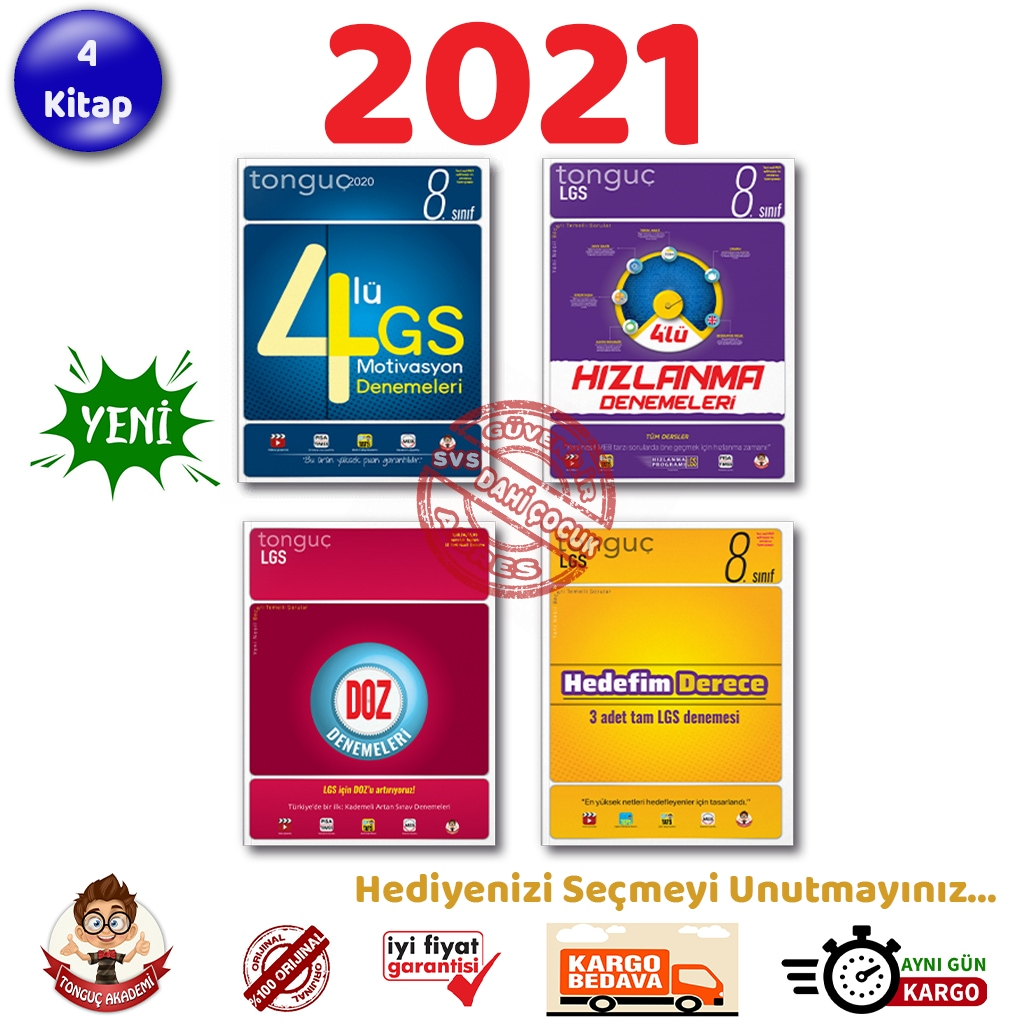 Tonguç 8. Sınıf Lgs Deneme Set 4 Kitap 2021 Hızlanma Derece Doz Ekitap İndir | PDF | ePub | Mobi