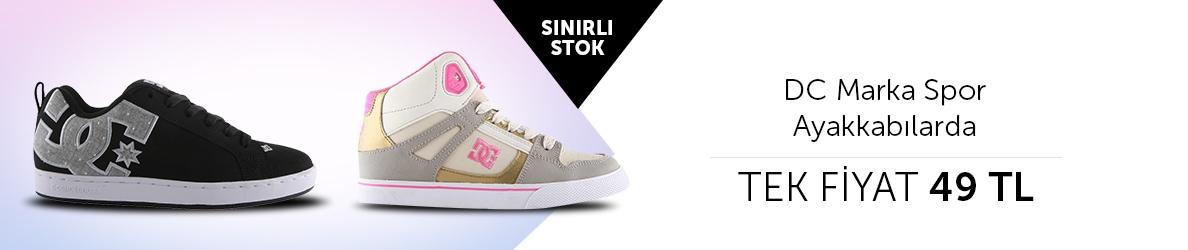 DC Spor Ayakkabılarda Tek Fiyat 49 TL