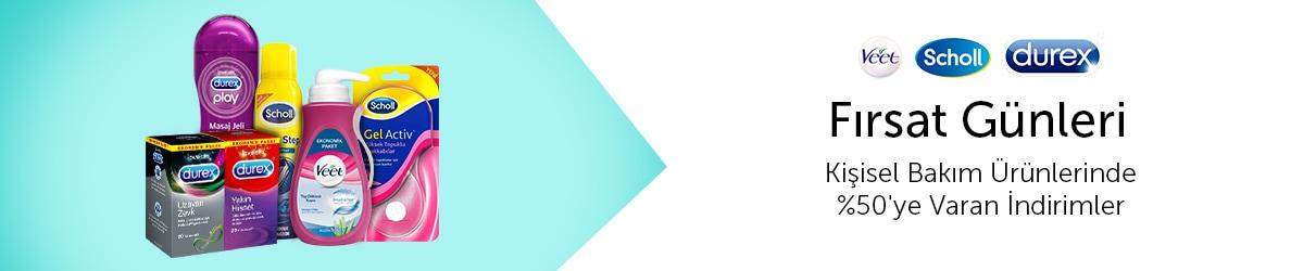 Durex&Veet&Scholl Ürünlerinde Fırsatlar