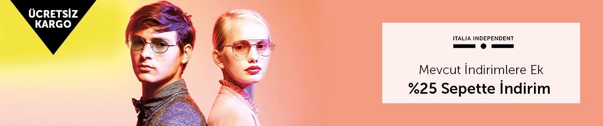 Italia Independent Marka Güneş Gözlüklerinde Mevcut İndirimlere Ek %25 Sepette İndirim
