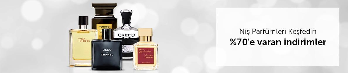 Niş Parfümlerde %70'e varan indirimler