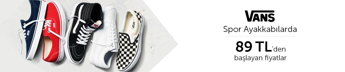 Vans Spor Ayakkabılar 89 TL'den Başlayan Fiyatlarla!