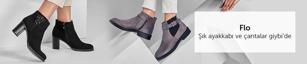 Flo Şık ayakkabı ve çantalar giybi'de