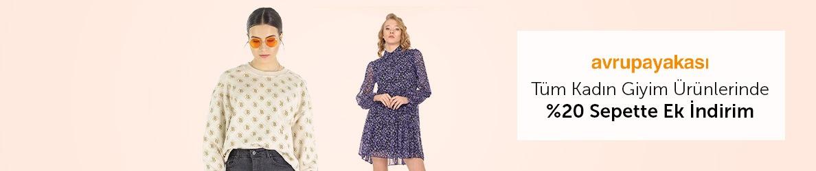 Avrupa Yakası Kadın Giyim Ürünlerinde Sepette %20 Ek İndirim