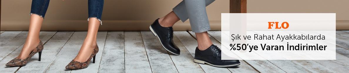 Flo Şık ve Rahat Ayakkabılarda %50'ye Varan İndirimler