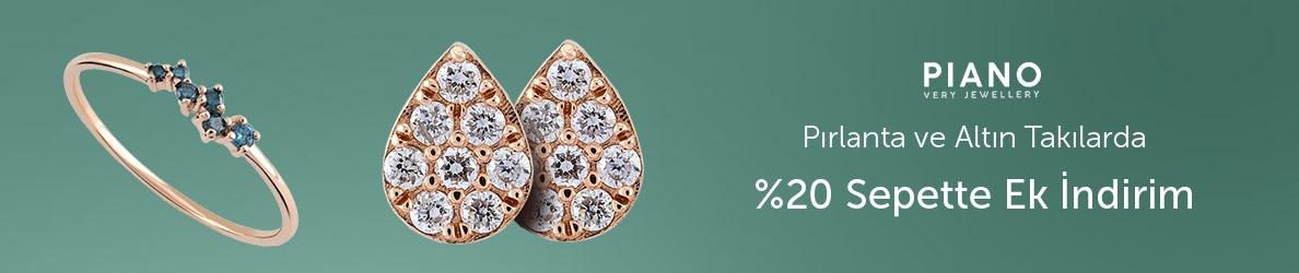 Piano Jewellery Seçili Altın ve Pırlanta Takılarda %20 Sepette Ek İndirim