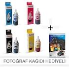 EPSON  EcoTank L220 için 1 Takım Photoink Mürekkep- Fotoğraf Kağı