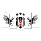 Beşiktaş 3 Yıldızlı Kanvas Tablo