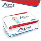 Atos 3 Katlı Beyaz Lastikli Tek Kullanımlık Maske 50 Adet