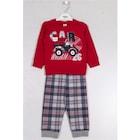DMB Erkek Çocuk Pijama Takımı Kırmızı 6770