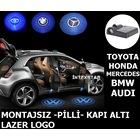 Montajsız Pilli 3D Araç Kapı Altı Lazer Hayalet Logo 2 ADET