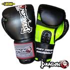 Dragon Attack Boks ve Kick Boks Eldiveni Siyah