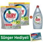 Fairy Platinum Bulaşık Makinesi Deterjanı Kapsülü 90 Yıkama 2'li