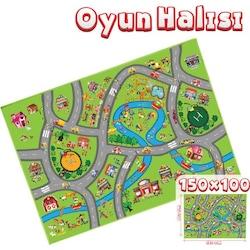Çocuk Oyun Halısı City Akar Lisanslı Orjinal Oyun Halısı 150 Cm