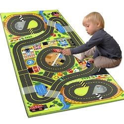 Yollu çocuk halısı,Çocuk Odası Halısı,Çocuk Halısı,Oyun(80x150cm)