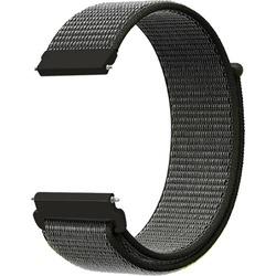 Mobicas Samsung Galaxy Gear S3 (22mm) Kumaş Desenli Kordon K. Gri