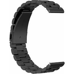 Mobicas Samsung Galaxy Watch (20mm) Klasik Model Metal Siyah