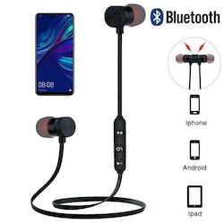 Akn Rw74 Bluetooth Kulaklık Kablosuz Manyetik Mıknatıslı Siyah Re