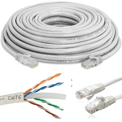 3, 5, 10, 15, 20, 30, METRE CAT6 ETHERNET,İNTERNET KABLOSU Orjin
