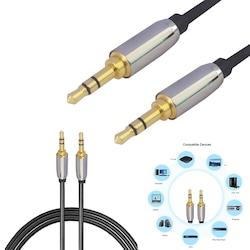 3 Metre 3.5 mm Altın Uçlu Aux Kablo Ses Kablosu