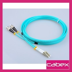 CABEX F/O OM3 LC-FC DUPLEX FİBER OPTİK PATCHCORD MULTİMODE 3 MT