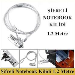 Şifreli Bilgisayar ve Notebook Kilidi - 1.2 Metre