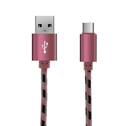 Yüksek Kaliteli Alüminyum USB Veri/ Şarj Örgülü Kordon Ekstra U