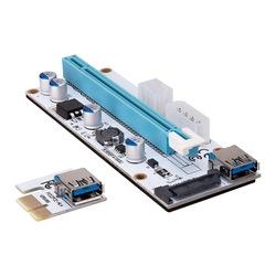 S-link SL-EX10 PCI-E 1x to 16x Sata6pin Bitcoin Riser Kart Ekran