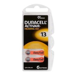 Duracell Activair PR48 13 Numara İşitme Cihazı Pili 6 x 10'lu