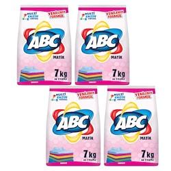ABC Matik Toz Çamaşır Deterjanı Renkliler İçin 46 Yıkama 4 x 7 KG