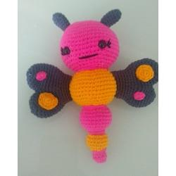 Kelebek Çıngırak Amigurumi Organik Örgü Oyuncak