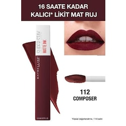 Maybelline Süper Stay Matte Ink Liquid Ruj 112 Composer