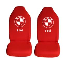BMW 1.16i Özel Araba Oto Koltuk Kılıfı Ön Koltuklar Kırmızı Penye
