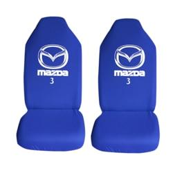 Mazda 3 Özel Araba Oto Koltuk Kılıfı Ön Koltuklar Mavi Penye Arac