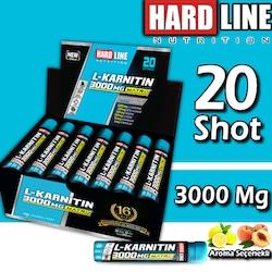 Hardline L-Karnitin 3000 Mg 30 Mlx20 Ampül L-Carnitine SKT:03/22