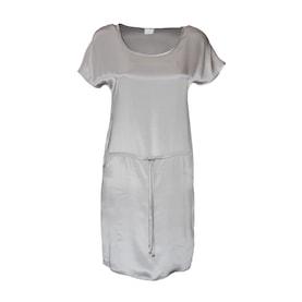 Bulalgiy Gümüş İpek Saten Elbise