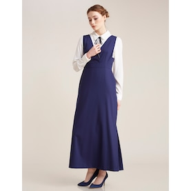 Kayra Gömlek Kombinli Elbise Saks B7 23023