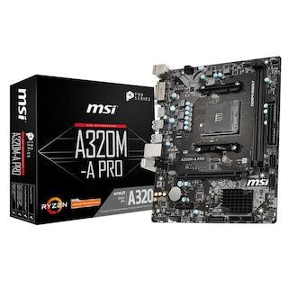 Msi A320M-A PRO AMD A320 3200 MHz (OC) DDR4 Soket AM4 mATX Anakart