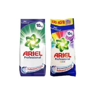 Ariel Professional Toz Çamaşır Deterjanı Beyazlar + Renkliler 2 x 10 KG