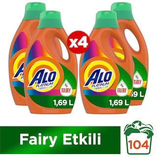 Alo Platinum Renkliler Fairy Etkili Sıvı Çamaşır Deterjanı 26 Yıkama 4 x 1690 ML