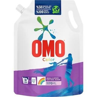 Omo Pouch Renkliler İçin Sıvı Çamaşır Deterjanı 18 Yıkama 1170 ML