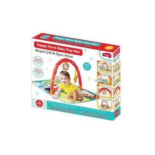 Furkan Babies Çıngıraklı ve Dişlikli Neşeli Oyun Halısı