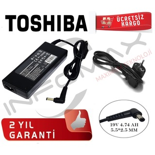 Toshiba Tüm Modeller İçin Notebook Adaptör Şarj Aleti 19v 4.74 a