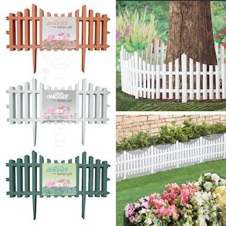 Dekoratif Plastik Çit Bahçe Çiti 59 CM Tek Beyaz Yeşil Kahverengi
