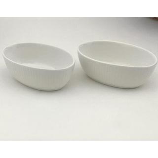 Arow Porselen Oval Çerezlik Beyaz 10*7 cm Tr-2017