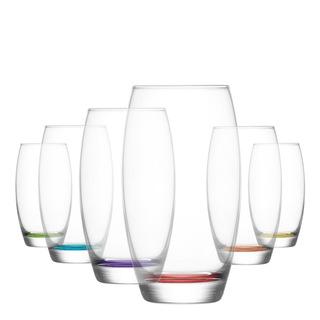 LAV Empire Renkli Tabanlı 6'lı Meşrubat Bardağı