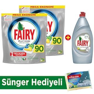 Fairy Platinum Hepsi Bir Arada 90 Yıkama 2'li Set