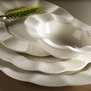 Kütahya Porselen Milena 24 Parça Krem Filesiz Yemek Seti