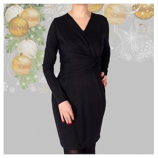 Ozmoz Siyah Kruvaze Kadın Elbise