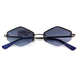 Daniel Klein Bayan Güneş Gözlüğü Polarize Altıgen Mavi Kahverengi